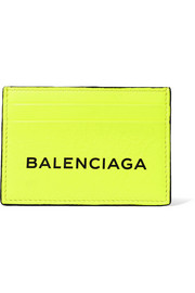 Printed neon leather cardholder