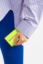 Printed neon leather wallet