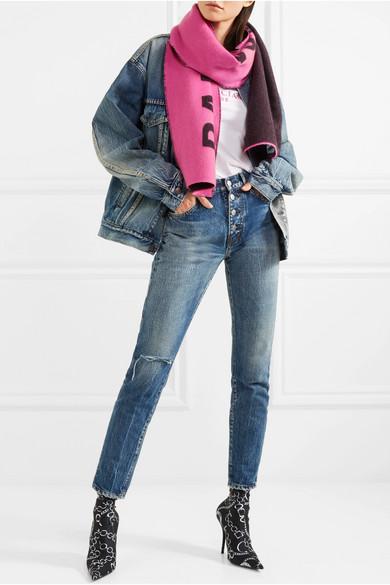 Balenciaga Couteau Imprimé Chaussettes En Spandex