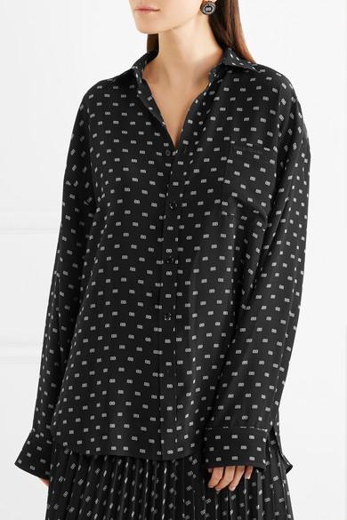 a4569a3e4b5d0 Balenciaga. Masculin printed silk shirt