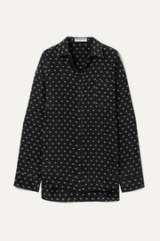 Masculin printed silk shirt