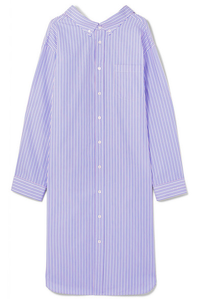 OVERSIZED STRIPED COTTON-POPLIN SHIRT DRESS