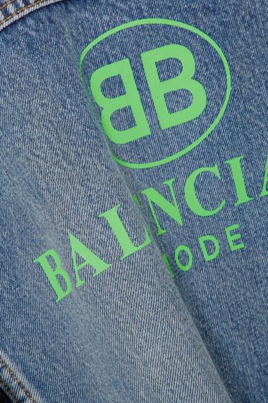 Balenciaga Like A Man Oversized-Jeansjacke mit Print