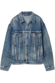 Balenciaga Like A Man oversized printed denim jacket