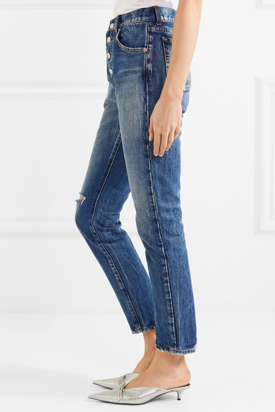Distressed Mid-rise Straight-leg Jeans - Blue Balenciaga 2018 Newest Online Extremely Cheap Price Discount Websites Fast Delivery Cheap Online P1JwR