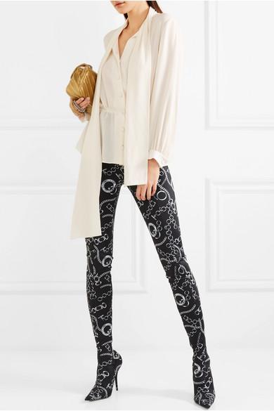 Verkauf Aus Deutschland Balenciaga Seidenbluse aus Crêpe de Chine mit Schluppe Echt Bilder Günstig Online Neuester Rabatt fS1GTx