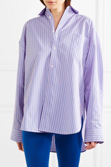 Balenciaga Masculin Hemd aus gestreifter Baumwollpopeline