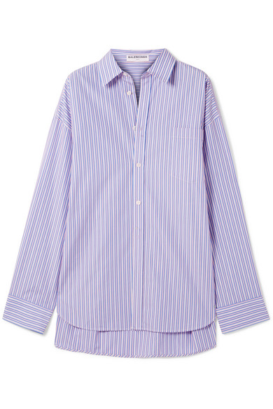 a74dc9650 Balenciaga | Masculin striped cotton-poplin shirt | NET-A-PORTER.COM
