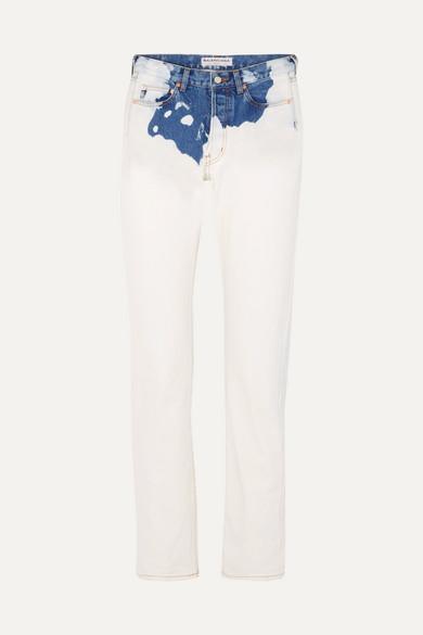 Balenciaga Zweifarbige, halbhohe Jeans mit geradem Bein