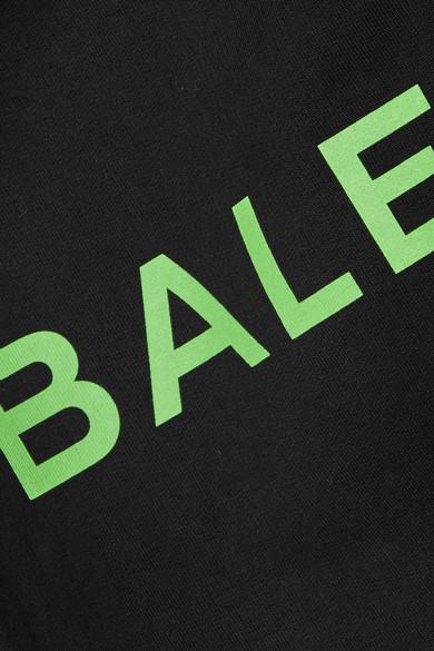 Balenciaga Oversized-Kapuzenpullover aus bedrucktem Baumwoll-Jersey