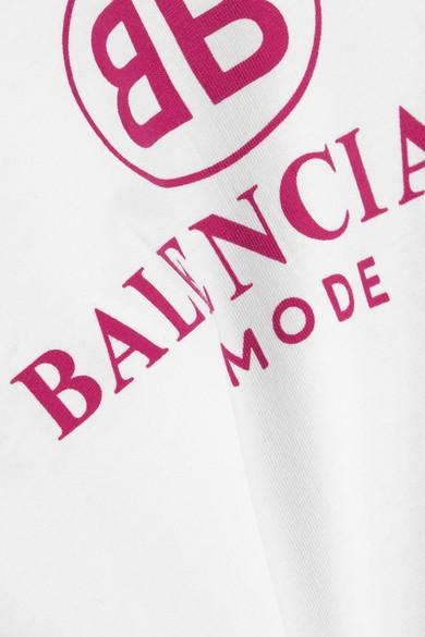Balenciaga Bedrucktes T-Shirt aus Baumwoll-Jersey