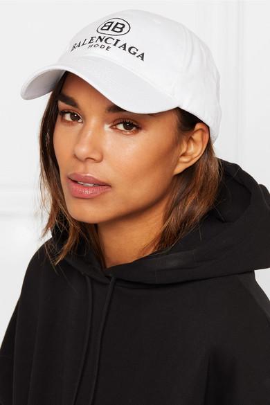 b84e5762 Balenciaga | Embroidered cotton-twill baseball cap | NET-A-PORTER.COM