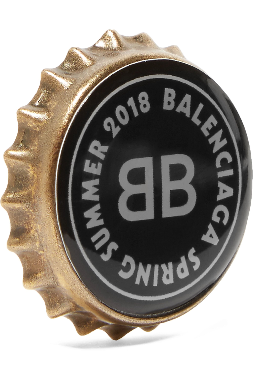 Balenciaga Gold-tone acrylic earring