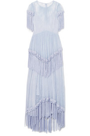 alice McCALL More Than a Woman fringed Chantilly lace dress