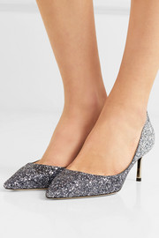 Jimmy Choo Romy 60 glittered leather pumps