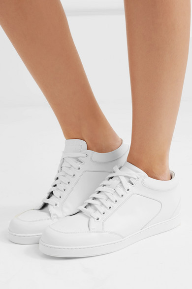 e706900497fb Jimmy Choo. Miami leather sneakers