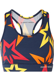 Starlight printed stretch sports bra