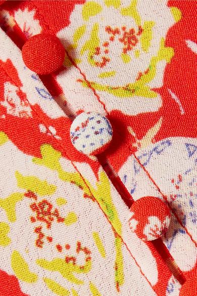 RIXO London Katie Maxikleid aus Crêpe de Chine mit floralem Print