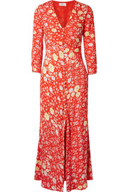 Katie floral-print crepe de chine maxi dress