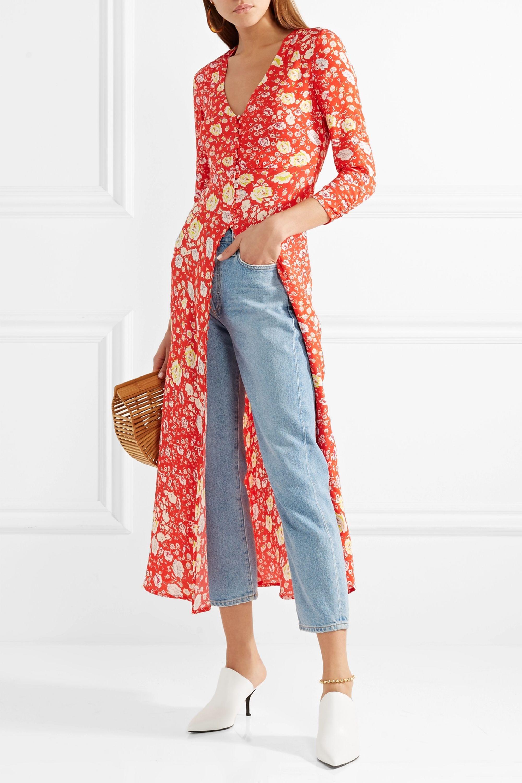 RIXO Katie floral-print crepe de chine maxi dress