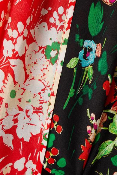 RIXO London Angie Schluppenbluse aus Crêpe de Chine aus Seide mit Blumendruck