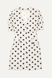 RIXO London Laura polka-dot crepe mini dress