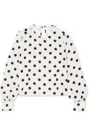 Imogen polka-dot crepe top