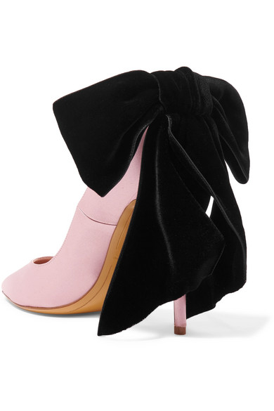 Bowdown Bow-embellished Velvet And Satin Pumps - Blush Alexandre Vauthier TTkQ2aFd