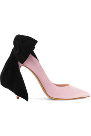 Alexandre Vauthier Bowdown bow-embellished velvet and satin pumps