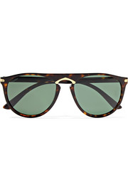 Cartier D-frame acetate and gold-plated sunglasses