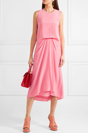 Lottie Pick Up silk crepe de chine midi dress
