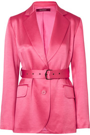 EXCLUSIVE Terry belted satin blazer