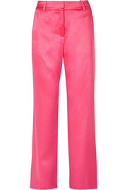 EXCLUSIVE Tatum satin straight-leg pants