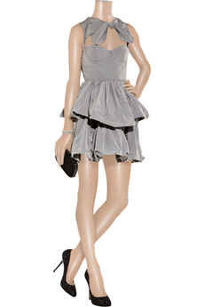 Carven | Ottoman cutout taffeta puffball dress | NET-A-PORTER.COM