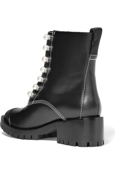 3.1 Phillip Lim Lug Sole Zipper Studded Ankle Boots Made Of Leather