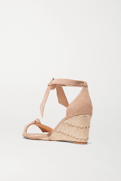 ec15334a0f Alexandre Birman. Clarita bow-embellished suede espadrille wedge sandals.  $325. Reduced further. Zoom In