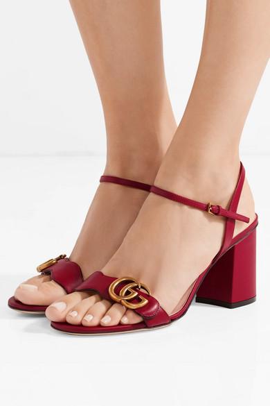 d7ee6f54fbed Gucci. Marmont logo-embellished leather sandals