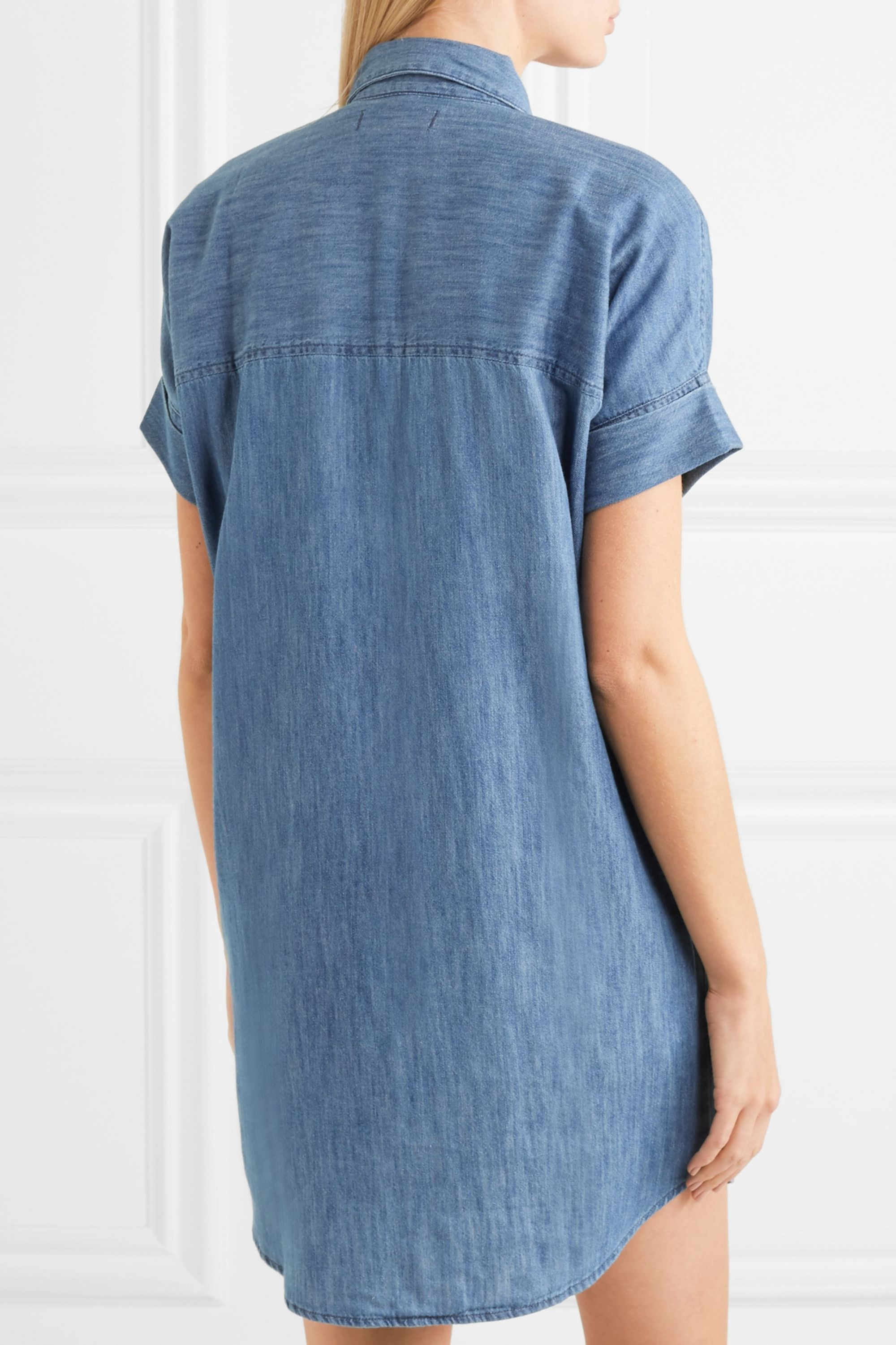Madewell Courier cotton and linen-blend chambray shirt dress