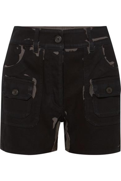 Printed Denim Shorts - Black Prada oJn634WG