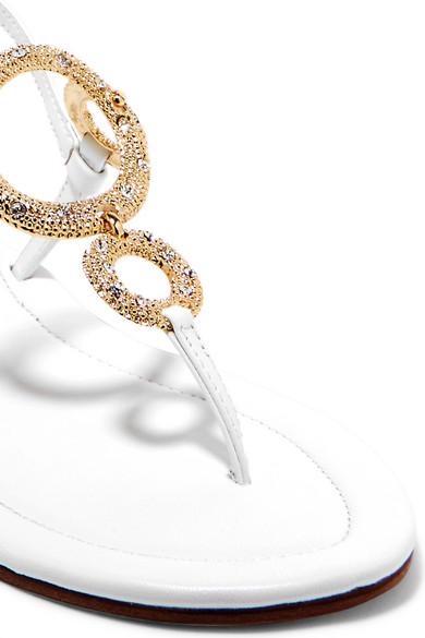Musa   Sandalen aus mit Leder mit aus Kristallen 42439e