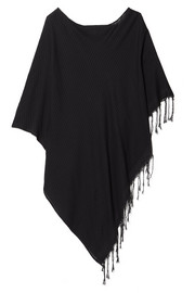 SU Paris Syama fringed cotton-gauze poncho