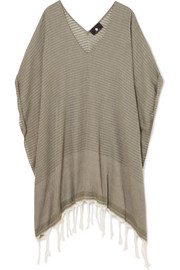 Luma fringed cotton-voile kaftan