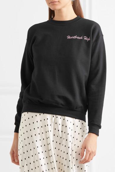 Double Trouble Gang Heartbreak High besticktes Jersey-Sweatshirt aus einer Baumwollmischung