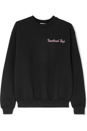 Heartbreak High embroidered cotton-blend jersey sweatshirt