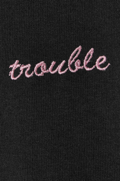 Double Trouble Gang Trouble Maker T-Shirt aus Baumwoll-Jersey mit Stickerei