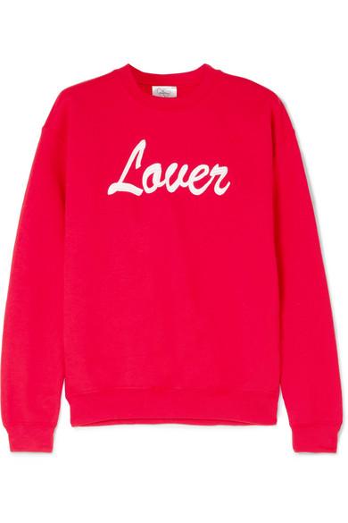 Double Trouble Gang Lover besticktes Sweatshirt aus Jersey aus einer Baumwollmischung