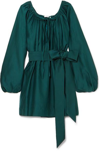 KALITA Pegasus cotton and silk-blend mini dress