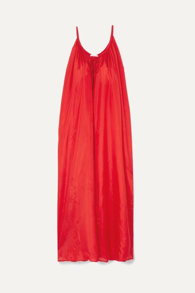 KALITA MERCURY SILK-HABOTAI MAXI DRESS
