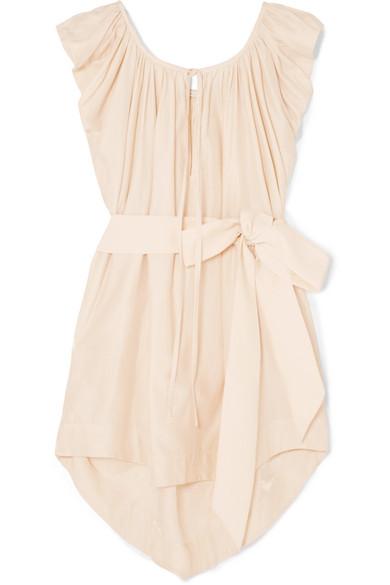 KALITA Andromeda Silk And Cotton-Blend Mini Dress in Pastel Pink