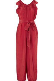 Andromeda Nights silk and cupro-blend jumpsuit